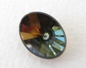 Vintage Swarovski Crystal Rhinestone Tabac Oval Faceted Rivoli Jewel 18x13mm swa0604 (1)
