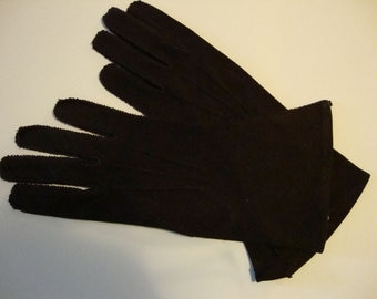 vintage chocolate brown gloves