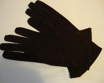 vintage chocolate brown gloves