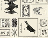 SALE  Haunted Gala from The Comstocks for Moda Apothecary Labels 1 yard