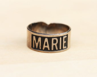 Silver Vintage Name Ring - Marie