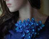 turkquise necklace felted felt fashon design woman wedding flowers flower