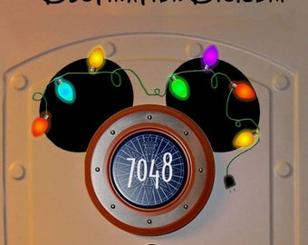 1/2 Off! Instant Download CHRISTMAS Mickey Ears!  Disney Cruise Door Magnet