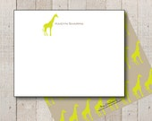Bright Giraffe Personalized Stationery // Everyday Stationery // Elegant Giraffe // Boys Stationery // Ladies Stationery