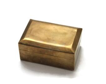 Vintage Brass Hinged Box
