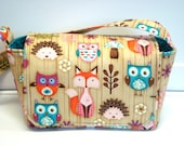 Super Size Coupon Organizer / Budget Organizer Holder Box - Attaches to Your Shopping Cart - Woodland Critters