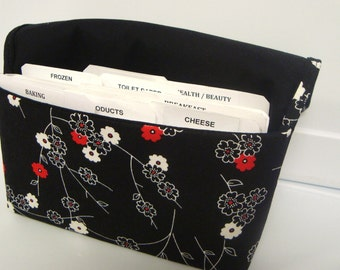 Coupon Organizer /Budget Organizer Holder  / Attaches To You Shopping Cart - Zen Blossom