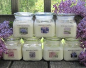 PURPLE FLOWER COLLECTION - 10oz Soy Jar Candle