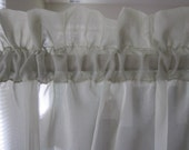 Sheer Curtain, Celadon Green Sheer Curtain 60 long...a total of 2 are available