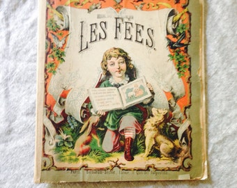 Antique Children's Book, French, published in Paris.