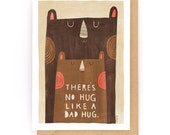 There's No Hug Like a Dad Hug - Greeting Card (2-81C)