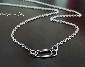 Paperclip School Teacher Gift Student Paper Clip Necklace