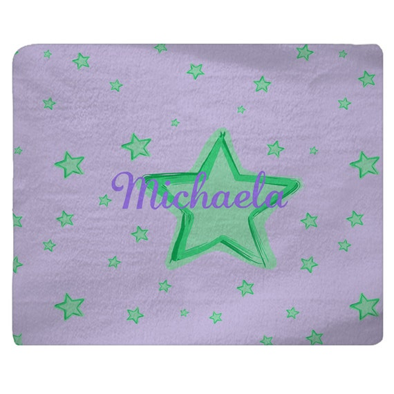 Custom Plush Fuzzy Area Rug Stars Nursery Rug Lavendar And