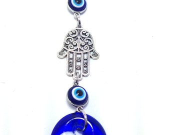 Evil eye Hamsa hand Wall Hanging - Protection & Good Luck - Car/home gift - Car accessories - Greece - Lucky eye - protection