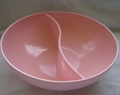 Vintage Retro 1950's--60's Pastel Pink Round Divided Stetson Melmac Serving Dish Bowl Chicago, IL