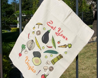 Cotton Produce Bag - Veggie Design
