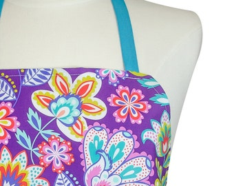 Cute Aprons for Women | Designer Apron | Purple Fiesta