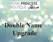 UPGRADE order to Double Name Monogram