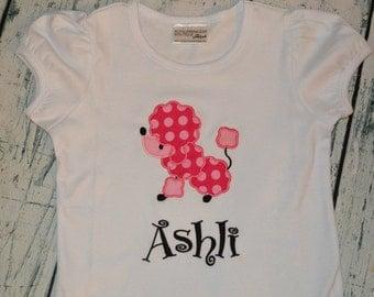 Personalized Poodle Ruffle Shirt