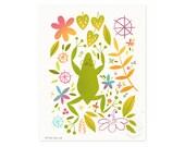 Jungle Frog Illustrated Art Print