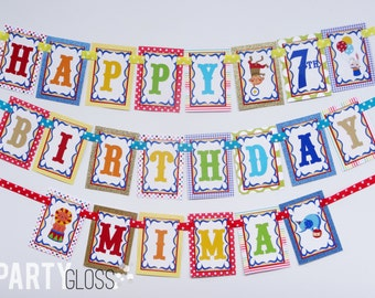 Sparkle Circus Birthday Party Banner Decorations Fully Assembled