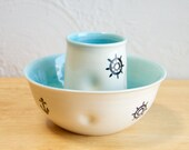 Nautical Breakfast Set - Bowl and a Cup