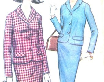 ON SALE  Vintage 1960s Misses' Suit Pattern by McCall's 7898 Vintage Sewing Pattern  Bust 36 inches