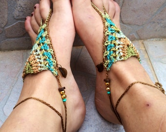 Wild sky crochet barefoot sandals