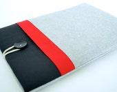 "iPad Air 2 Sleeve Case, Nexus 9, LG G Pad 8.3, Galaxy Tab 4, Chromo 7"" Tablet Sleeve - Red Color Block"
