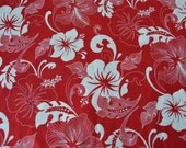 Robert Kaufman Road to Haleiwa - Red Cotton Fabric - Design #13915 - YOU PICK 1/2 yard to 1 yard x 44 inches