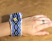 Viking Tablet Woven Bracelet - Blue, White, Yellow