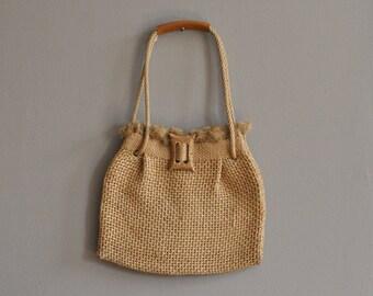 woven straw bag / beach bag
