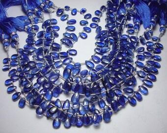 Sapphire blue Kyanite Smooth beads 8 inch strand