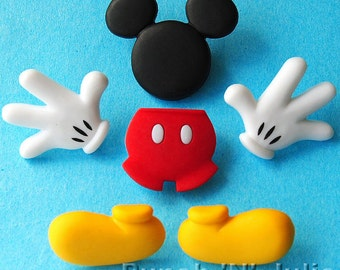 EVERYTHING MICKEY Disney Mouse Dress It Up Craft Buttons