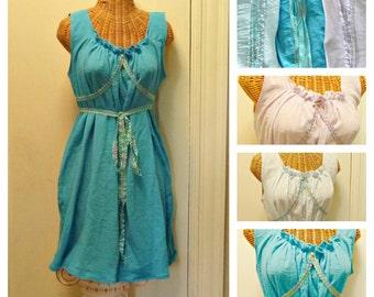 Renaissance Dress Plus Size XL, 1X, 2X, Ready To Ship Corset Look Festival Womens Gretel Boho Blue, Turquoise