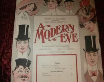 Music Sheet - Antique - Good ~ Bye Everybody A   Modern EVE Operetta SHEET MUSIC   copyright   MCMX11