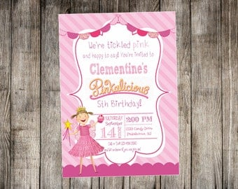 PInkalicious Photo Birthday Invitation - Pinkalicious Birthday - Pinkalicious Party with optional thank you card - Print Your Own