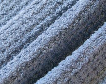 Lattice Blue Plush Chenille Fabric 24 x 19 Inches