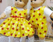 Red Ladybug Outfits for Bitty Baby Twins