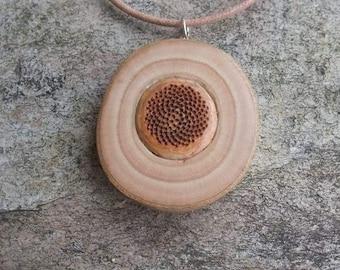 Mandala jewelry - Fig wood & Protea - unique natural jewelry handmade in Australia