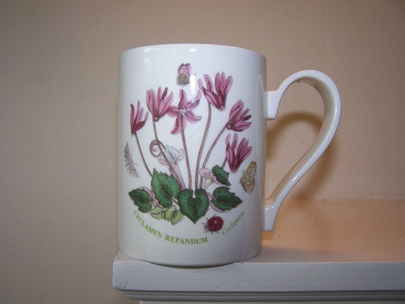 Portmeirion Mug The Botanic Garden Cyclamen Repandum By 2numerous