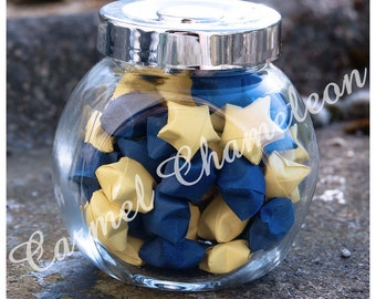 Jar of Paper Stars ~Lucky Origami Stars/Wishing Stars ~Good Luck ~Wedding/Party Favors ~Teacher/Leaving Gift