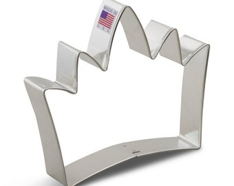 "Crown Cookie Cutter 4.75"" King's crown cookie cutter, made in USA"