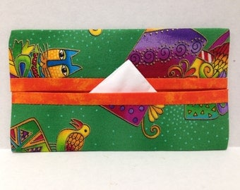 Laurel Burch Christmas Cats Tissue Cozy/Gift Card Holder/Party Favor/Wedding Favor