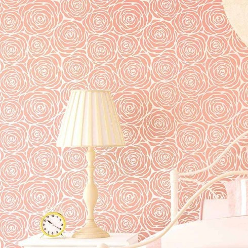 Roses Allover Stencil Large Diy Wall Design Better Than