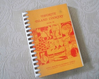 "Vintage Cookbook ""Favorite Island Cookery"" Buddhist Temple Hawaii 1979"