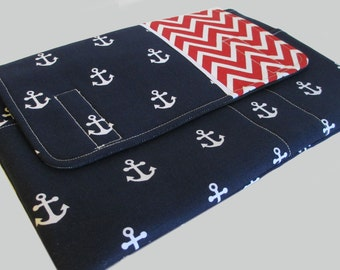 Microsoft Surface Case, Surface Book Case, Surface Sleeve, Surface Cover, Surface Pro 2 3 4 RT Case Chevron Anchors