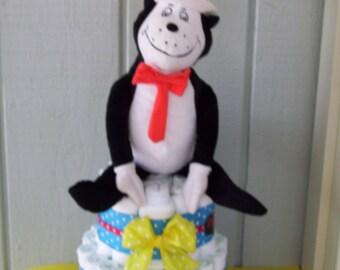 Cat in the Hat Diaper Cake