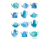 Colourful Teapots - Limited edition