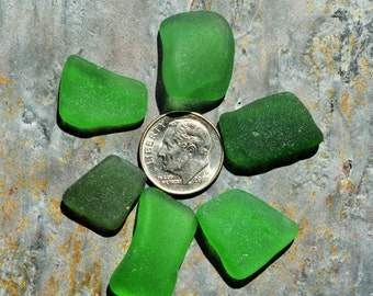 Green & Teal Seaglass. Undrilled. Lot O10.